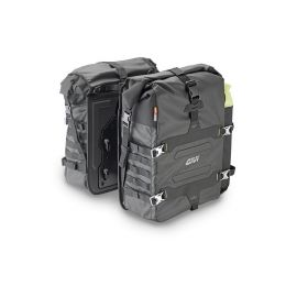 Alforjas laterales impermeables de lona 35lt (utilizable con soportes lat maletas Givi )