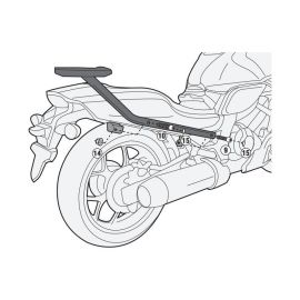 Adaptador Especifico para Maleta Monokey CTX 700N DCT 14-16 Givi