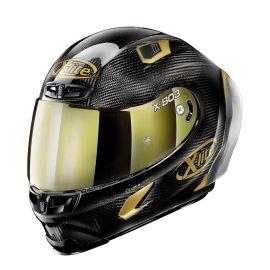 Casco X-803 RS Ultra Carbon Golden Edition 33 Negro Dorado