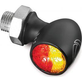 Direccional tras LED K-MANN ATTO DF ngo mate (luz ambar / rojo stop) Multi-Fit 2858 Kury