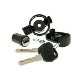 Kit 3 cerraduras para unificar 3 Maletas con llave única Givi
